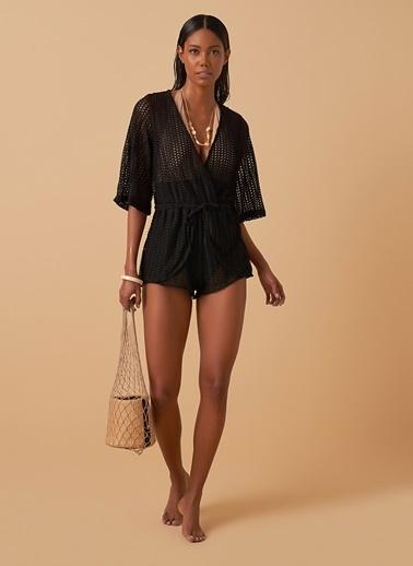 Loves You Fileli Plaj Tulumu Siyah